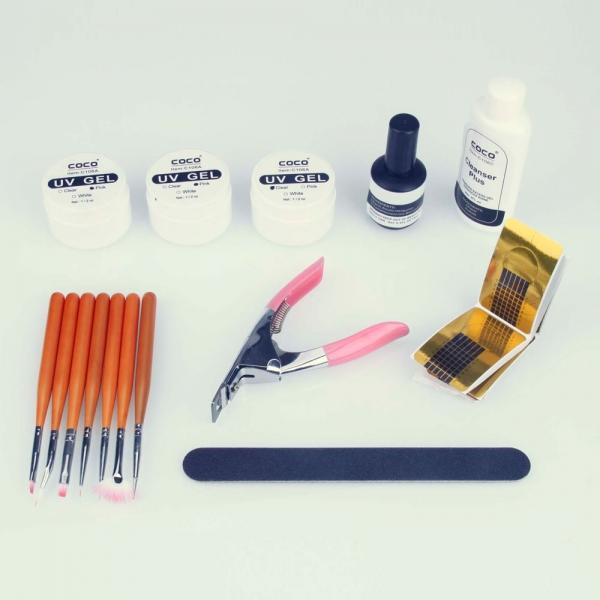 Nail Polish Package: UV Gel Kit Nail Art Manicure Tool Nail